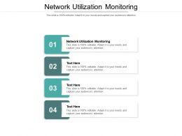 Network Utilization Monitoring Ppt Powerpoint Presentation Slides Design Ideas Cpb