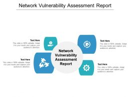 Network Vulnerability Assessment Report Ppt Powerpoint Presentation Outline Background Cpb