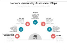 Network Vulnerability Assessment Steps Ppt Powerpoint Presentation Pictures Ideas Cpb