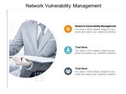 Network Vulnerability Management Ppt Powerpoint Presentation Show Master Slide Cpb