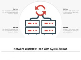 Network Workflow Icon With Cyclic Arrows