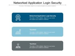 Networked Application Login Security Ppt Powerpoint Presentation Show Template Cpb