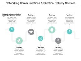 Networking Communications Application Delivery Services Ppt Powerpoint Presentation Slides Background Image Cpb