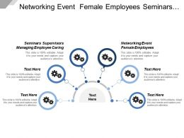 Networking Event Female Employees Seminars Supervisors Managing Employee Caring