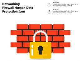Networking Firewall Human Data Protection Icon