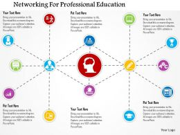 Networking For Professional Education Flat Powerpoint Design