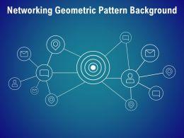 Networking Geometric Pattern Background