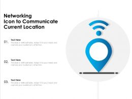 Networking Icon To Communicate Current Location