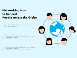Networking Icon To Connect People Across The Globe