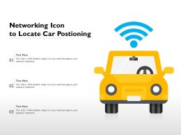 Networking Icon To Locate Car Postioning