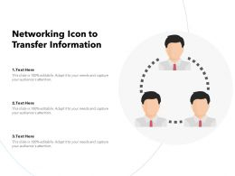 Networking Icon To Transfer Information