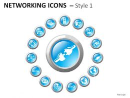 Networking Icons Style 1 Powerpoint Presentation Slides