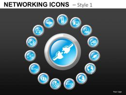 Networking Icons Style 1 Powerpoint Presentation Slides DB