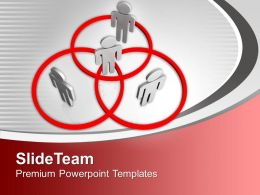 Networking People Stand In Venn Diagram Powerpoint Templates Ppt Backgrounds For Slides 0113