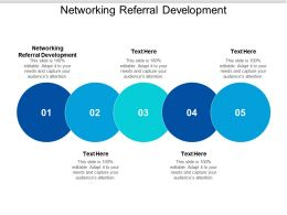 Networking Referral Development Ppt Powerpoint Presentation Ideas Format Cpb