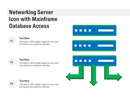 Networking Server Icon With Mainframe Database Access