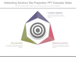 Networking Solutions Site Preparation Ppt Examples Slides