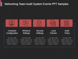 Networking Team Audit System Events Ppt Samples