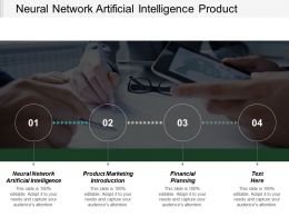 Neural Network Artificial Intelligence Product Marketing Introduction Financial Planning Cpb