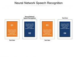 Neural Network Speech Recognition Ppt Powerpoint Presentation Ideas Backgrounds Cpb