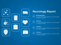 Neurology Report Ppt Powerpoint Presentation Slides Format