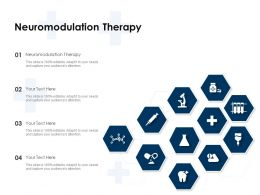 Neuromodulation Therapy Ppt Powerpoint Presentation Icon Show