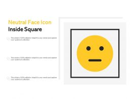 Neutral Face Icon Inside Square