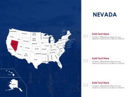 Nevada Map Powerpoint Presentation PPT Template