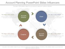 New Account Planning Powerpoint Slides Influencers