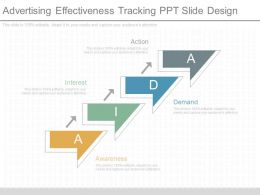 New Advertising Effectiveness Tracking Ppt Slide Design