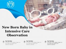 New Born Baby In Intensive Care Observation