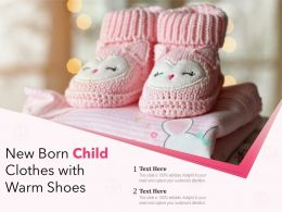 New Born Child Clothes With Warm Shoes