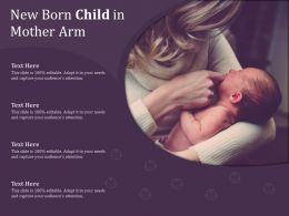 New Born Child In Mother Arm