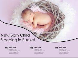 New Born Child Sleeping In Bucket