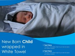 New Born Child Wrapped In White Towel