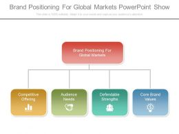 New Brand Positioning For Global Markets Powerpoint Show