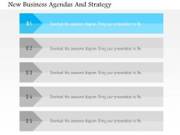 New Business Agendas And Strategy Flat Powerpoint Design