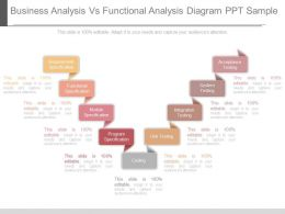 New Business Analysis Vs Functional Analysis Diagram Ppt Sample