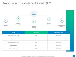 New Business Development And Marketing Strategy Brand Launch Process And Budget Plan Ppt File