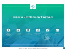New Business Development And Marketing Strategy Business Development Strategies Ppt Icon