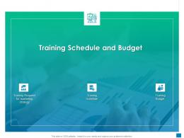 New Business Development And Marketing Strategy Training Schedule And Budget Ppt Summary