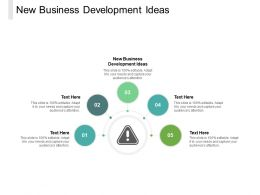 New Business Development Ideas Ppt Powerpoint Presentation Infographics Visuals Cpb