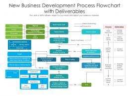 New Business Development Process Flowchart With Deliverables