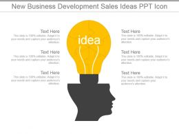 New Business Development Sales Ideas Ppt Icon