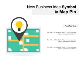 New Business Idea Symbol In Map Pin