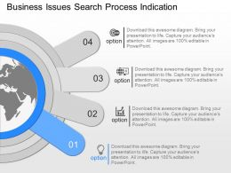 new Business Issues Search Process Indication Powerpoint Template