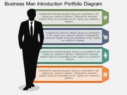 new Business Man Introduction Portfolio Diagram Flat Powerpoint Design