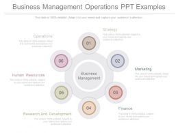 New Business Management Operations Ppt Examples