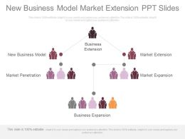 New Business Model Market Extension Ppt Slides