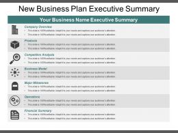 New Business Plan Executive Summary Powerpoint Ideas